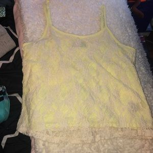 Tops - Neon yellow/white top